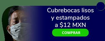 Cubre bocas lisos y estampados a $12 MXN - Corbatas de México