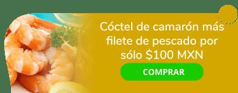 Cóctel de camarón más filete de pescado por sólo $100 MXN - Los Delfines