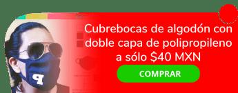 Cubrebocas de algodón con doble capa de polipropileno a sólo $40 MXN - Createe