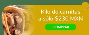 Kilo de carnitas a sólo $230 MXN - Carnitas La Chulle