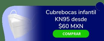 Cubrebocas infantil KN95 desde $60 MXN la pieza - Alex Punk