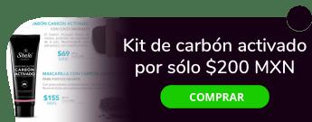 Kit de carbón activado por sólo $200 MXN - Distribuidora Shelo Nabel CDMX