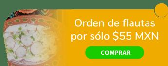 Orden de flautas (3 piezas) por sólo $55 MXN - El Potzollito