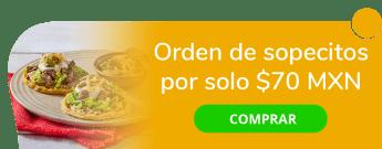 Orden de sopecitos (3 piezas) por sólo $70 MXN - El Potzollito