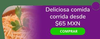 Deliciosa comida corrida desde $65 MXN - Cocina Los Alcatraces