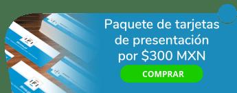 Paquete de tarjetas de presentación desde $300 MXN - Betzarte