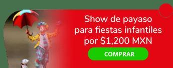 Show de payaso para fiestas infantiles a sólo $1,200 MXN - Payaso Elotito Peinadito