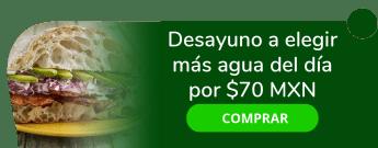 Desayuno a elegir más agua del día por sólo $70 MXN - Fuente De Sodas Gena