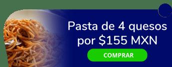 Pasta de 4 quesos por $155 MXN - Moderna Pizza Napolitana