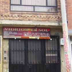 Vidrios El Sol en Bogotá