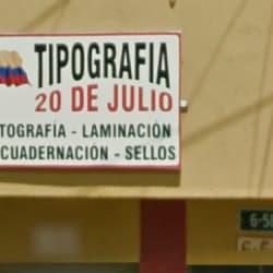 Tipografía 20 de Julio en Bogotá