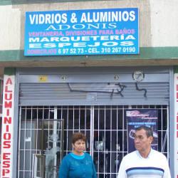 Vidrios y Aluminios Avenida suba con 108A en Bogotá