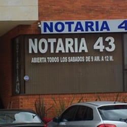 Notaría 43 - Calle 109 en Bogotá