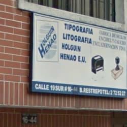 Tipografía Holgin Henao E.U en Bogotá