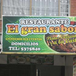Restauranteb el Gran Sabor en Bogotá
