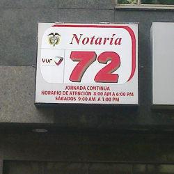 Notaría 72 - Carrera 11 en Bogotá