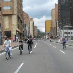 Tramo de Ciclovia en Chapinero KRA 7ma en Bogotá