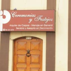 Ceremonias y Festejos en Bogotá