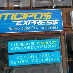 Anticipos Express Unicentro en Bogotá