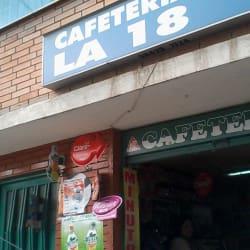 Cafetería La 18 en Bogotá