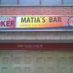 Matia's Bar en Bogotá