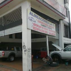 Alineaciones La 72 en Bogotá