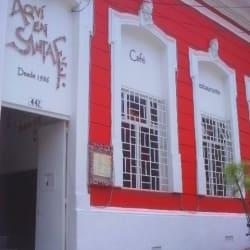 Aquí en Santa Fe en Bogotá