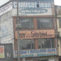 Camisas y Pantalones Jeans en Bogotá