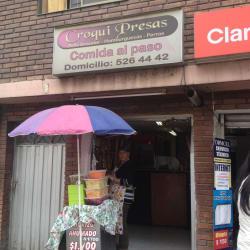 Croqui Presas Comida al paso en Bogotá