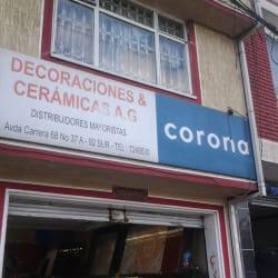 Decoraciones y Cerámicas AG en Bogotá