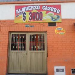 Almuerzo Casero a $3500 en Bogotá