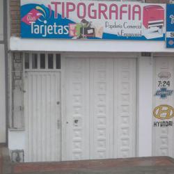 "Tipografía ""Tus Tarjetas"" en Bogotá"