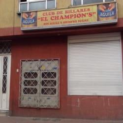 Club de Billares el Champions en Bogotá