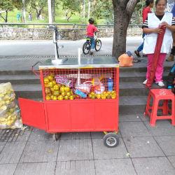 Puesto Ambulante Jugo de Naranja Margarita Valencia en Bogotá