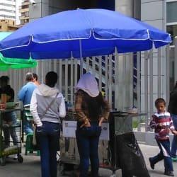 Puesto Ambulante de Arepas en Bogotá