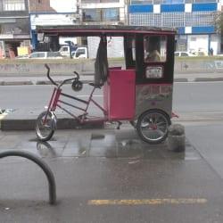 Bicitaxi Manuel Mina en Bogotá