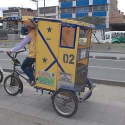 Bicitaxi Luis en Bogotá