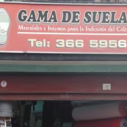 Gama de Suelas en Bogotá