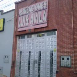 Alineaciones Luis Ávila en Bogotá
