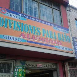 Divisiones Para Baño Aluminio en Bogotá