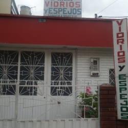 Vidrios y Espejos Carrera 58 Con 5A en Bogotá