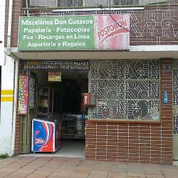 Miscelánea Don Gussepe en Bogotá