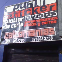 Publi Stikers en Bogotá
