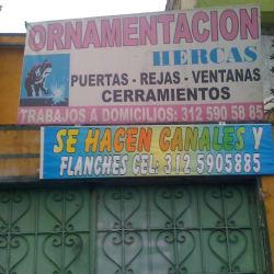 Ornamentación Hercas en Bogotá