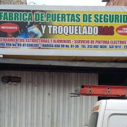 Fabrica de puertas de seguridad y troquelados sas en Bogotá