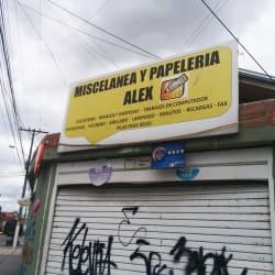 Miscelánea y papelería Alex en Bogotá