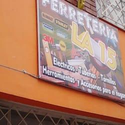 Ferreteria la 15 en Bogotá