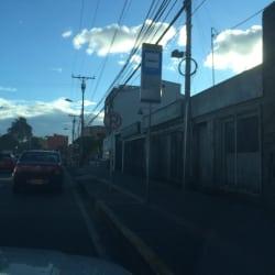 Paradero SITP Barrio Autopista Medellín - 075A04 en Bogotá