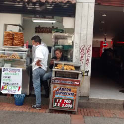 Arepuelas en Bogotá