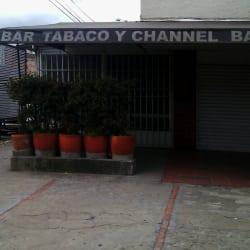 Bar Tabaco y Channel en Bogotá
